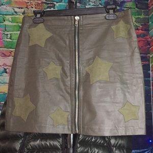 Dance & Marvel Skirts - Vegan Leather Mini Skirt